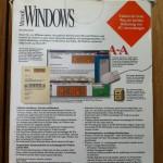 Microsoft Windows 3.1, Rückseite