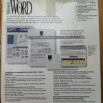 Microsoft Word, Rückseite